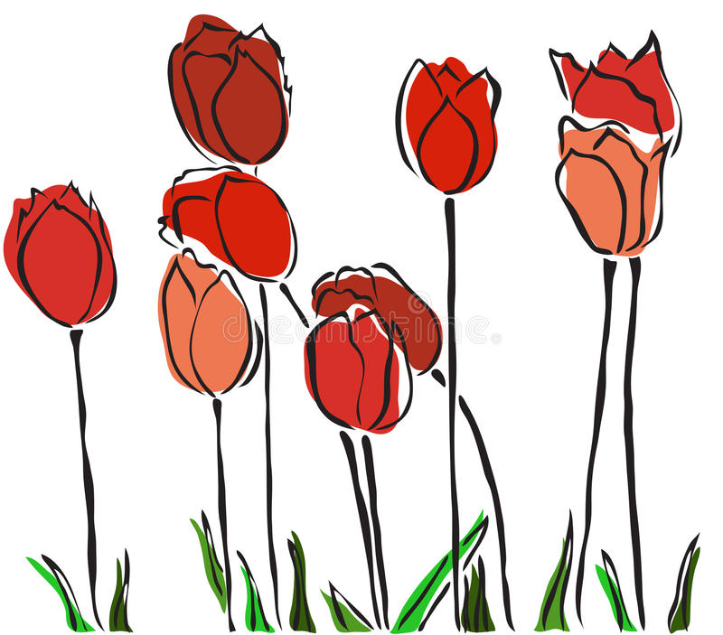 elegante-hand-getrokken-rode-tulpen-voor-uw-de-lenteontwerp-29955325